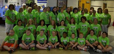 staff and students wearing our Relay for Life shirts